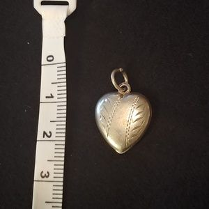 "Vintage Jewelry - Vintage Sterling Engraved Puffy Heart Charm ""Bert"""
